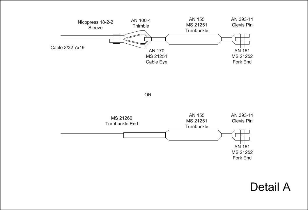 control cable drawings pete s pietenpol detail a